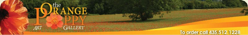 Orange Poppy Art Gallery Banner
